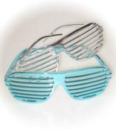 Lamellen bril metallic
