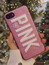 iPhone 7 / 8 - stevig TPU siliconen backcover incl. Styluspen - PINK - glitter roze
