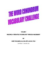 The Word Conundrum Vocabulary Challenge