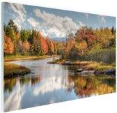Herfstlandschap  Glas 120x80 cm - Foto print op Glas (Plexiglas wanddecoratie)