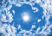 Fotobehang Sky Clouds Sun Nature | XL - 208cm x 146cm | 130g/m2 Vlies