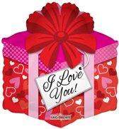 Folie ballon I Love You 46 cm groot als cadeautje
