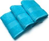 Casilin Royal Touch - Gastendoekje - Turquoise - 40 x 70 cm - Set van 3