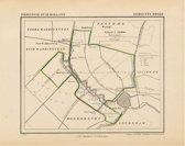 Historische kaart, plattegrond van gemeente Broek in Zuid Holland uit 1867 door Kuyper van Kaartcadeau.com