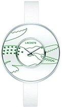 Lacoste horlogeband 2000544 / 2000543 Leder Wit 10mm