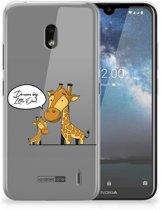 Nokia 2.2 Telefoonhoesje met Naam Giraffe