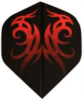 Abbey Darts Flights - Zwart/Rood