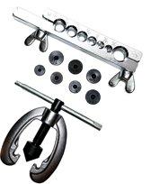 9 delige flare set voor koper en aluminium buis o.a remleiding en gasleiding