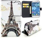 Eiffel tower wallet hoesje Alcatel one touch C7