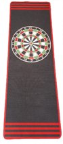 Dragon darts - Dartmat Antraciet 241x80 cm - Zonder reclame - Dartvloerkleed