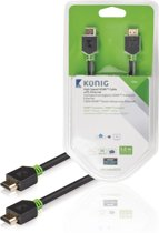 König High Speed HDMI-kabel met Ethernet HDMI-connector - HDMI-connector 5,00 m grijs