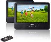 Nikkei NPD910T - Portable DVD speler met 2 schermen - 9 inch