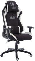 Clp XL Racing bureaustoel SHIFT – Stof - Zwart/wit
