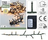 Nampook Kerstlampjes - 30 meter - warm wit - microcluster - 1500 LED-lampjes