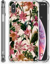 iPhone Xs Max  TPU-siliconen Hoesje Flowers