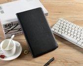 H.K. Draaibaar/Boekhoesje hoesje zwart geschikt voor Samsung Galaxy Tab A 2019 (T510) + Glasfolie en stylus pen