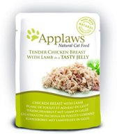 Applaws cat jelly chicken / lamb kattenvoer 70 gr