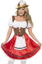 Oktoberfest Beiers kostuum Dirndl Rood voor dames - maat S ( 36 - 38 )