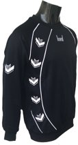 KWD Sweater Pronto - Zwart/wit - Maat L