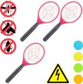 relaxdays 3x elektrische vliegenmepper - tegen muggen - vliegen mepper elektrisch - rood