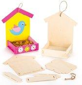 Set met houten vogelvoederbakjes  (3 stuks per verpakking)