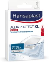Hansaplast Waterdicht Pleisters Antibacterieel Zilver XL Aqua Protect - 5 stuks