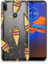 Motorola Moto E6 Plus Siliconen Case Icecream