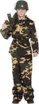 Carnavalskleding Soldaat Camouflage groen jongen Maat 128
