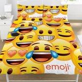 Emoji Faces - Dekbed - Tweepersoons - 200 x 200 cm - Geel