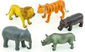 Set van 5 wilde dieren