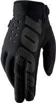 100% Brisker fietshandschoenen zwart Handschoenmaat M