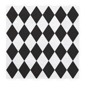 Servetten Ruit Zwart / Wit 20 stuks