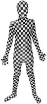 Morphsuits™ Kids Bw Check - SecondSkin - Verkleedkleding - 120/138
