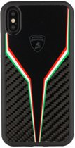 Lamborghini backcover hoesje D2 Serie Apple iPhone X-Xs Zwart - Silicone - TPU