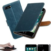 MP Case blauw vintage look hoesje voor Apple iPhone 7 / 8 Plus book case