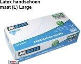 Latex wegwerp handschoenen doos (100 st. maat (L)-Large) Ter voorkoming van besmetting en virussen. - DD-8946-L