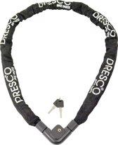 Dresco - Kettingslot - 150 cm - Met 2 sleutels - Zwart