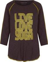 "Shirt ""Boogie T"" - storm grey/lemonade L Loungewear shirt YOGISTAR"