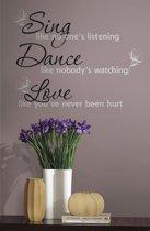 RoomMates Muurtekst Sing Dance Love - Multi