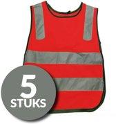 Veiligheidshesjes voor kind - set van 5 - rood - one size