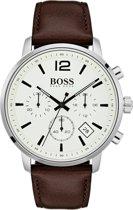 Hugo Boss Attitude HB1513609 Horloge - Leer - Bruin