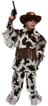 Cowboy western kostuum / verkleedpak met koeienprint voor kinderen 152 (12 jaar)