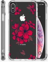 Apple iPhone Xs Max TPU Hoesje Design Blossom Red