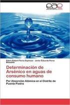Determinacion de Arsenico En Aguas de Consumo Humano