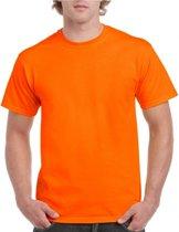 Fel oranje shirt voor volwassenen S