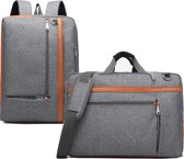 Laptoptas 2-in-1 voor 17.3 inch laptop - laptop rugtas / laptop schoudertas – grijs