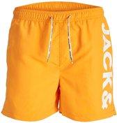 ed422a47823e81 Jack & Jones Cali Zwemshort Heren Zwembroek - Maat L - Mannen - oranje/wit