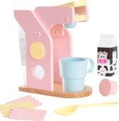 KidKraft Houten speelgoed koffiezetapparaat - pastelkleurig