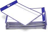Herschrijfbare magneten of magnetische sticky notes - TASKcards - 16 stuks - Navy blauw