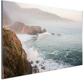 Kliffen Amerika Aluminium 180x120 cm - Foto print op Aluminium (metaal wanddecoratie) XXL / Groot formaat!